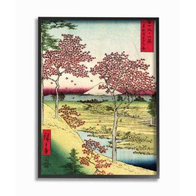 """16 in. x 20 in. """"Eastern Illustration Fields"""" by Piddix Printed Framed Wall Art"""