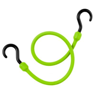 48 in. Green Polyurethane Easy Stretch Cord, Integrated Nylon Hook Ends