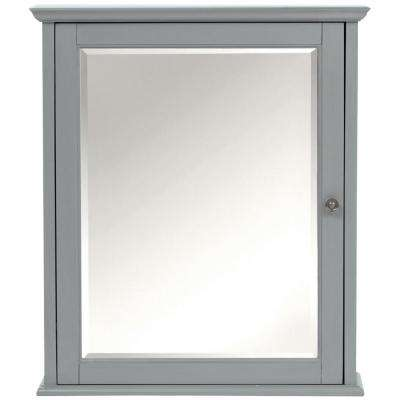 Hamilton 24 in. W x 27 in. H Wall Mirror Cabinet in Grey