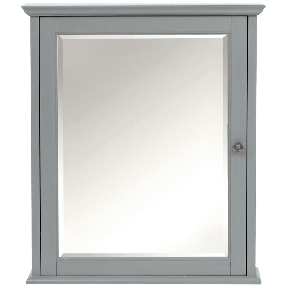Charmant Home Decorators Collection Hamilton 24 In. W X 27 In. H Wall Mirror Cabinet