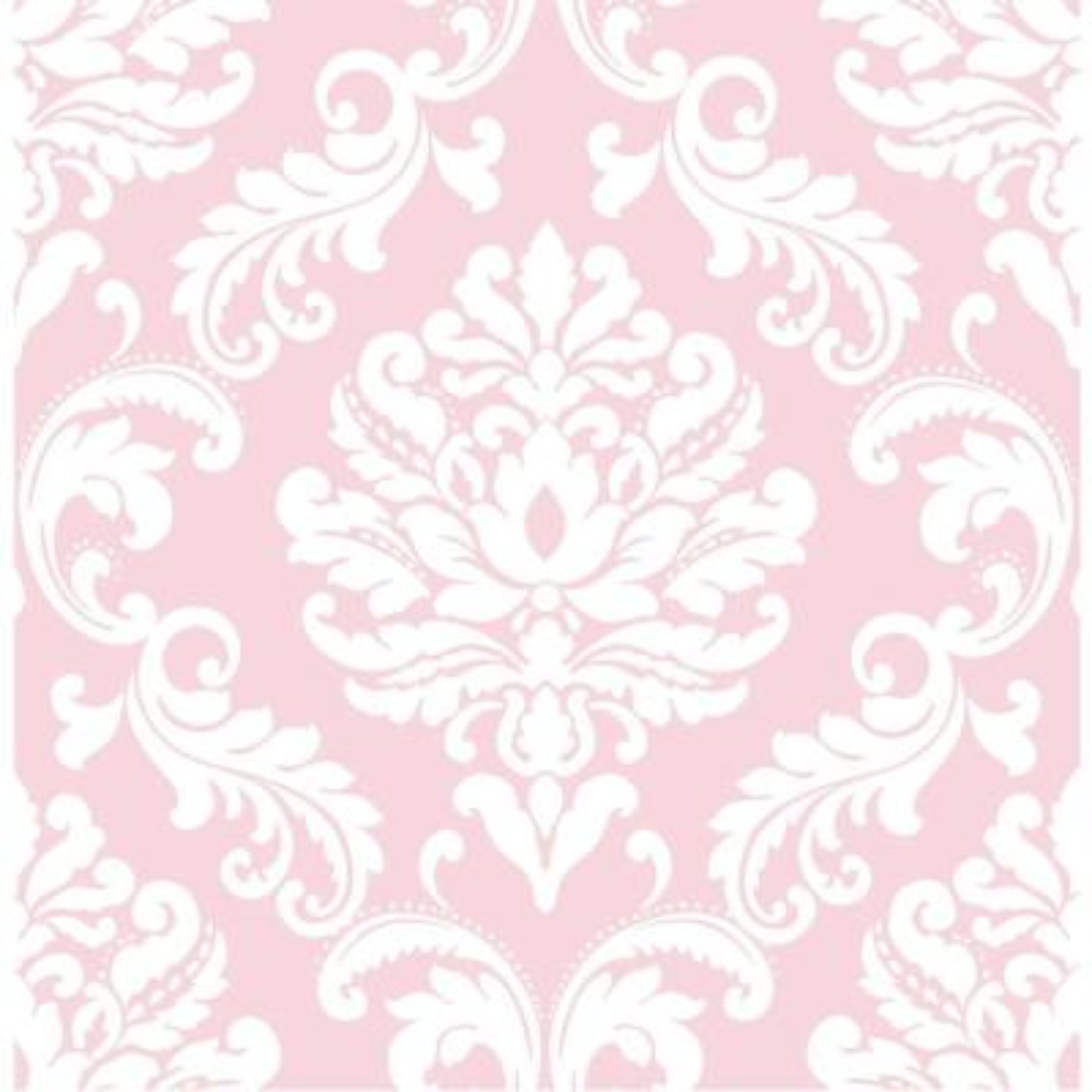 Pink Ariel Peel and Stick Wallpaper Sample
