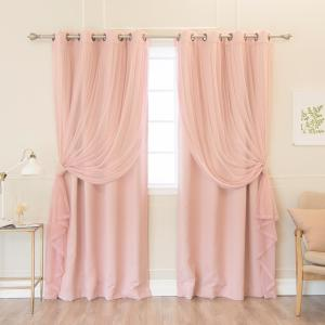 Umixm Dusty Pink Tulle And Blackout