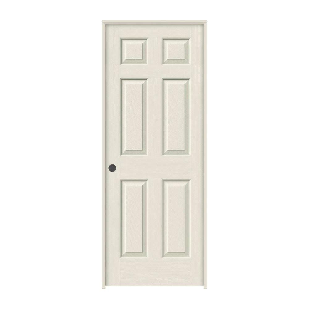 JELD-WEN 30 in. x 80 in. Colonist Primed Right-Hand Textured Molded Composite MDF Single Prehung Interior Door