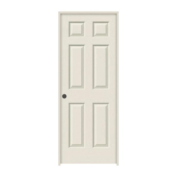 30 in. x 80 in. Colonist Primed Right-Hand Textured Solid Core Molded Composite MDF Single Prehung Interior Door
