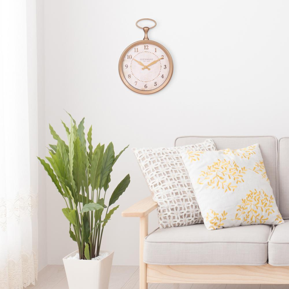 Pinnacle Glenmont Pocket Watch Gold Wall Clock