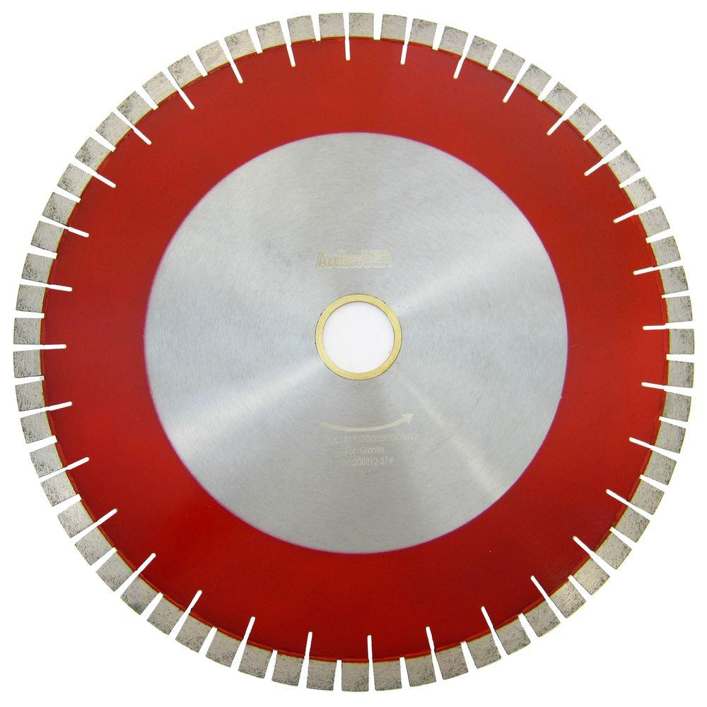 Archer USA 18 in. Bridge Saw Blade with V-Shaped Segment for Granite Cutting