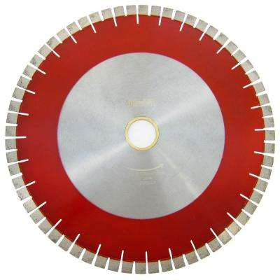 18 in. Bridge Saw Blade with V-Shaped Segment for Granite Cutting
