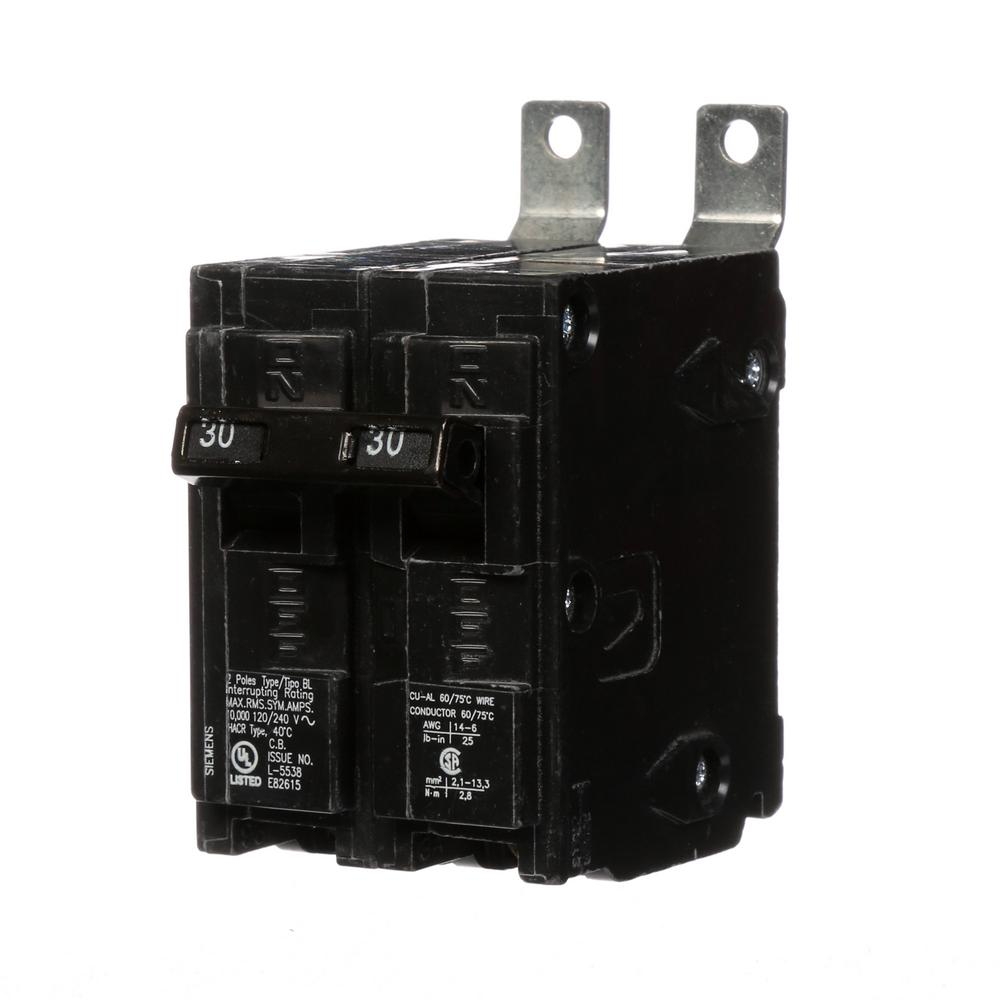 Siemens 30 Amp 2-Pole Type BL Bolt-On-Circuit Breaker