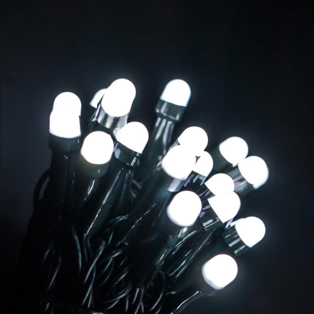 50 ft. 200 Light Mini Globe Cool White LED String Lights