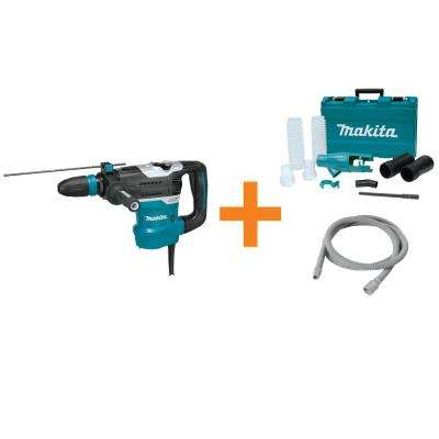11 Amp 1-9/16 in. Corded SDS-MAX Concrete/Masonry AVT Rotary Hammer Drill w/ Vacuum Hose and Dust Extraction Attachment