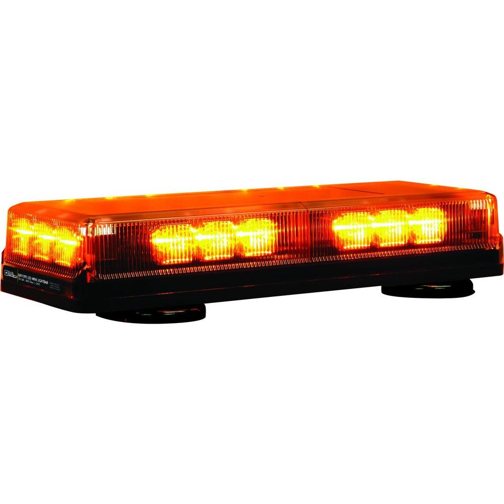 buyers products company 18 amber led mini light bar8891090 the home depot