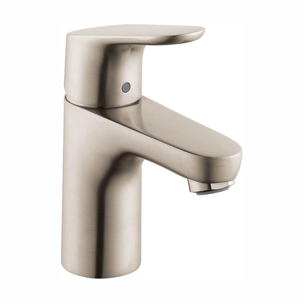 Focus 100 Single Hole 1-Handle Bathroom Faucet in Brushed Nickel