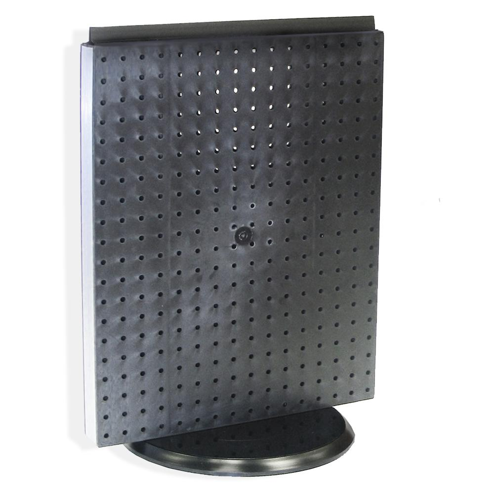 20.25 in. H x 16 in. W Revolving Pegboard Counter Display in Black