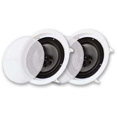 In-Ceiling 8 in. Speaker Pair 3 Way Home Theater Speakers