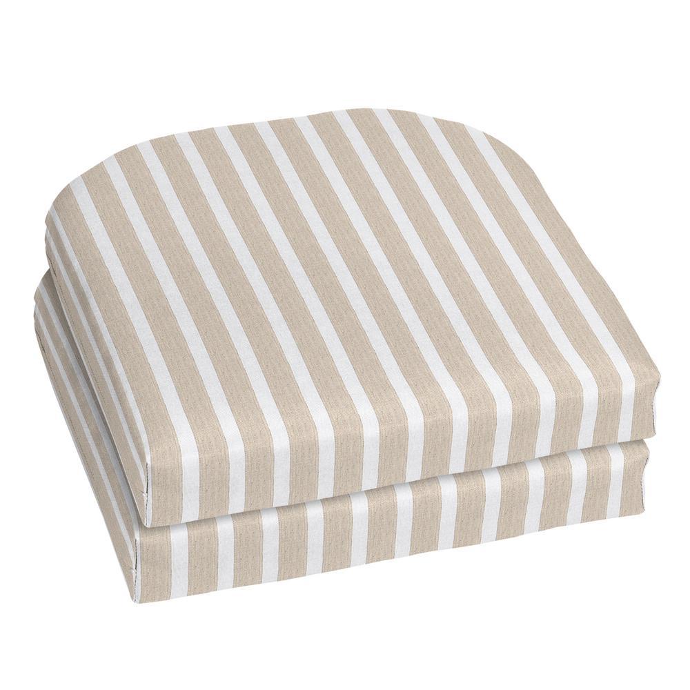Charmant Home Decorators Collection 18 X 18 Outdoor Chair Cushion In Sunbrella Shore  Linen (2