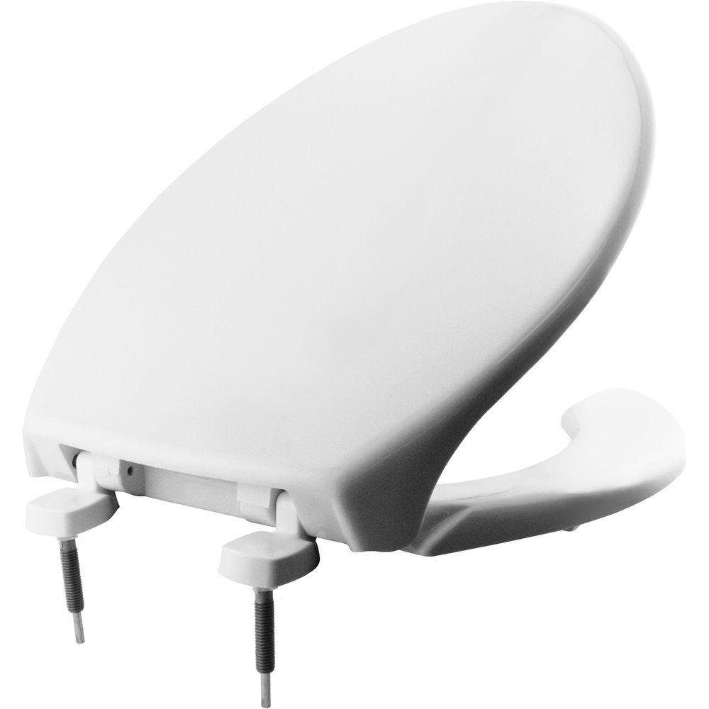 Outstanding Bemis Just Lift Elongated Open Front Toilet Seat In White Creativecarmelina Interior Chair Design Creativecarmelinacom
