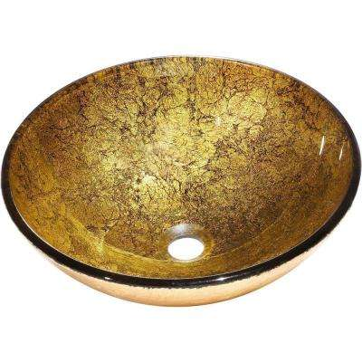 Bourgeois Vessel Sink in Golden Brown and Bronze