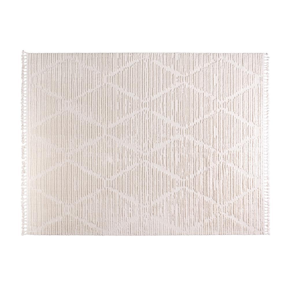 Terni Cream 8 ft. x 10 ft. Polyester Area Rug