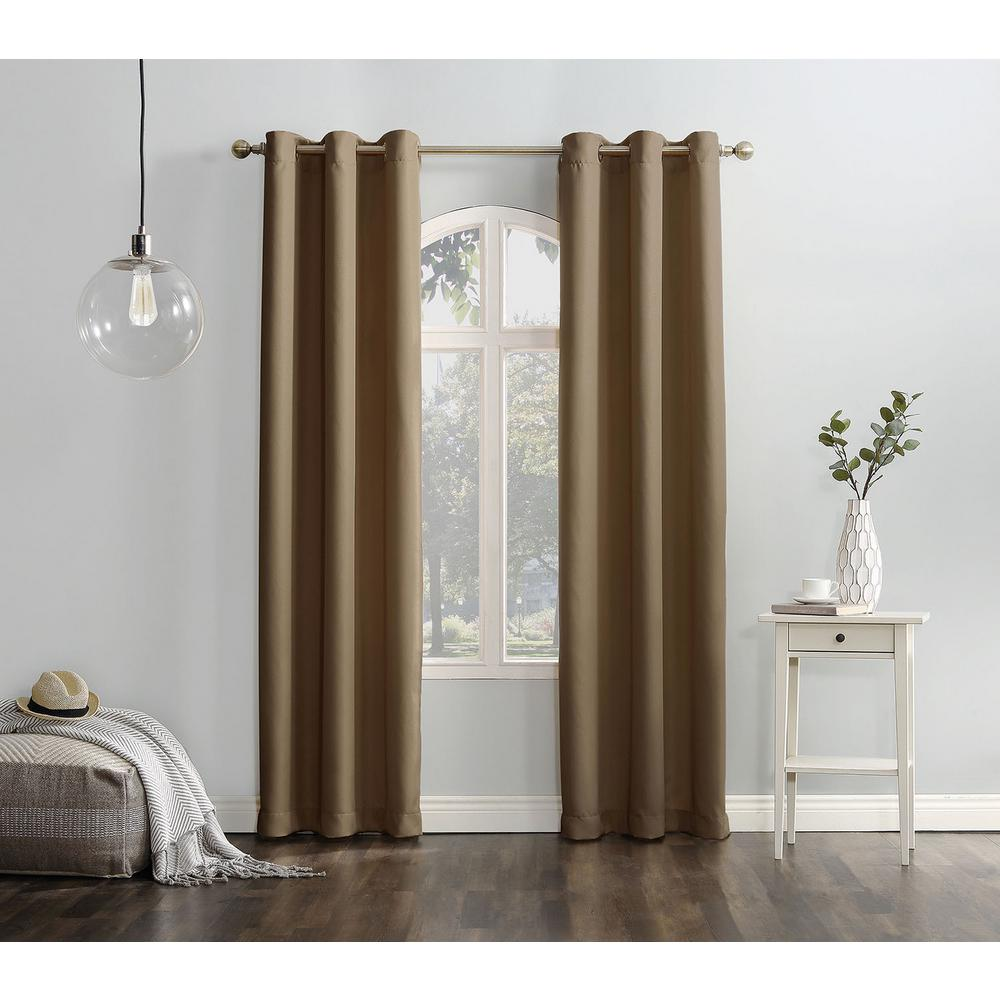918 Casual Montego Woven Grommet Top Curtain Panel 48 In W X 63 L 36829