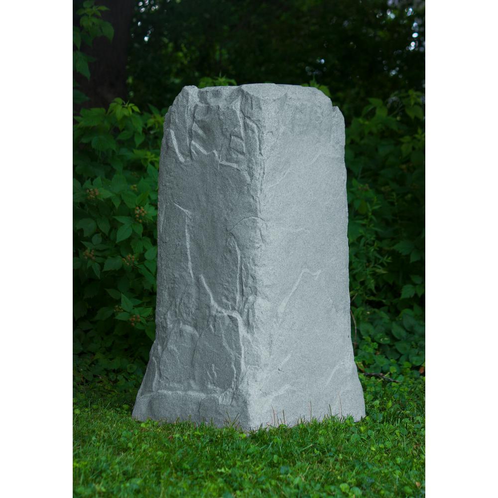 Emsco 36-3/4 in. H x 18 in. W x 19 in. L Monolith Landscape Granite Resin Rock Utility Cover