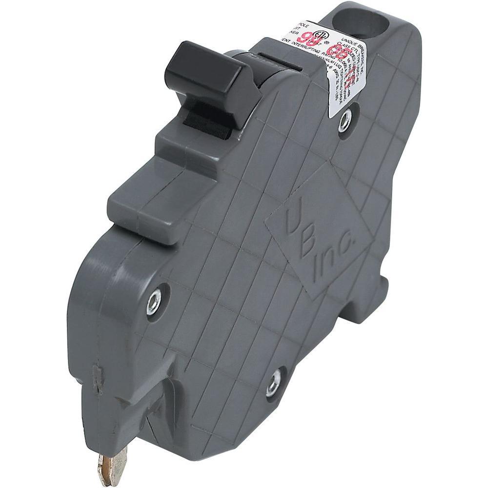 Federal Pacific Single Pole Tandem 20amp Stab-lok Red handle Circuit Breaker