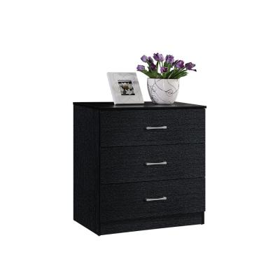 3-Drawer Chest in Black