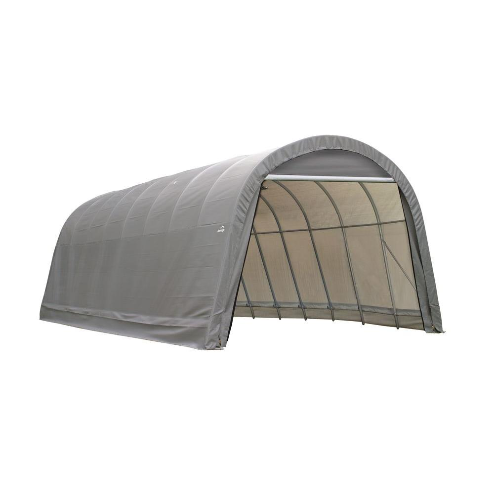 ShelterLogic 14 ft. x 36 ft. x12 ft. RoundTop Garage/Storage Grey Shelter - DISCONTINUED