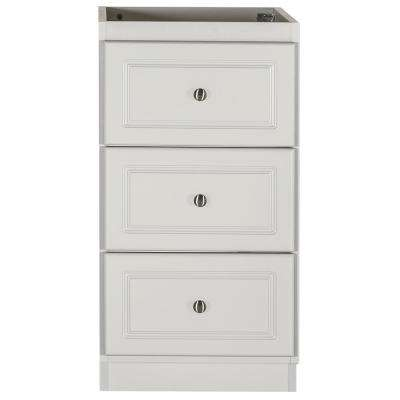 Ultraline 18 in. W x 21 in. D x 34.5 in. H Bath Vanity Cabinet Only with Drawer Bank in Dewy Morning