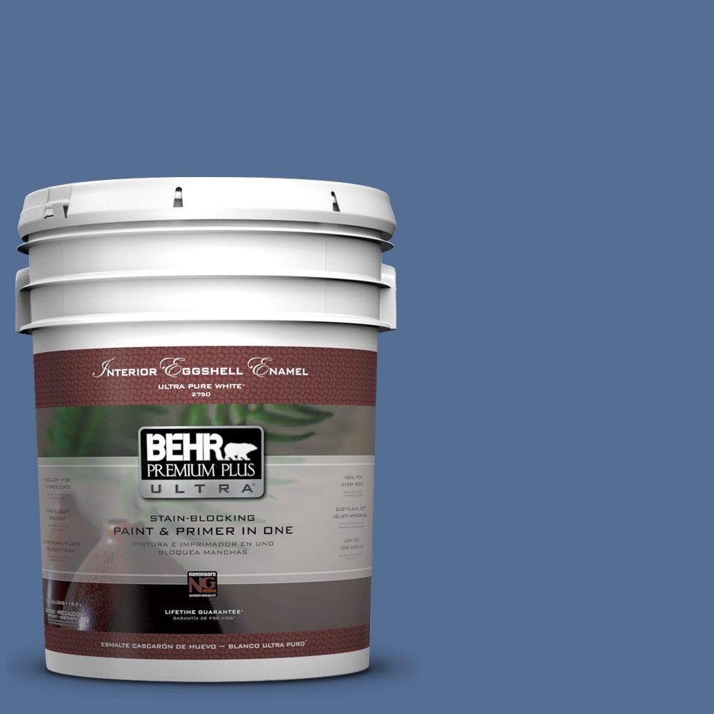 BEHR Premium Plus Ultra 5-gal. #M530-6 Charter Blue Eggshell Enamel Interior Paint