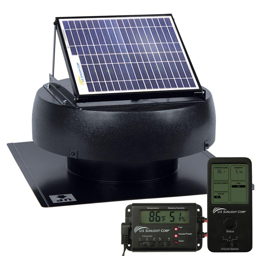 US Sunlight SunFan 10 Watt Solar Powered Attic Fan with Solar Controller Included -DISCONTINUED