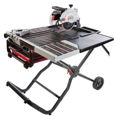 10 in. 15 Amp/115-Volt Wet Tile Saw Kit with Gravity Folding Stand