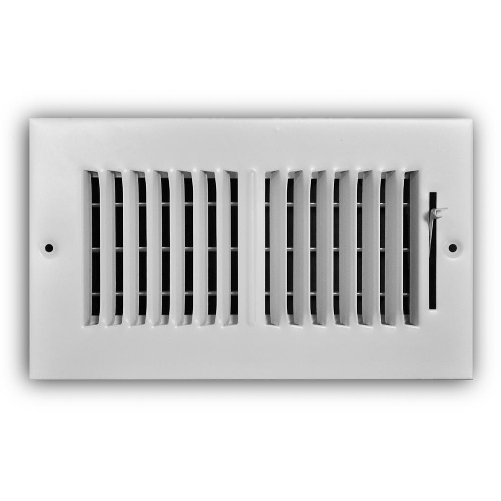Everbilt 8 in. x 4 in. 2-Way Wall/Ceiling Register-E102M 08X04 - The ...