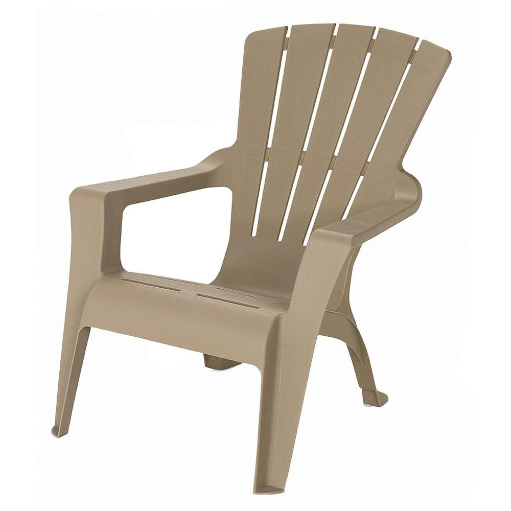 . US Leisure Adirondack Mushroom Patio Chair 232983   The Home Depot