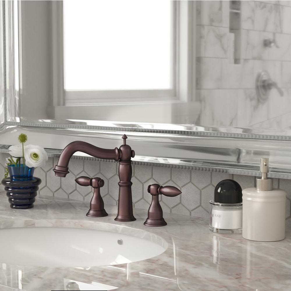 Yosemite Home Decor 8 in. Widespread 2-Handle Lavatory Faucet in Oil ...