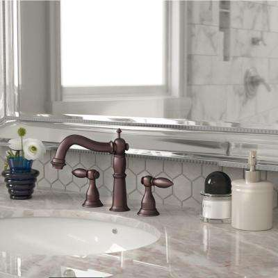 8 in. Widespread 2-Handle Lavatory Faucet in Oil Rubbed Bronze