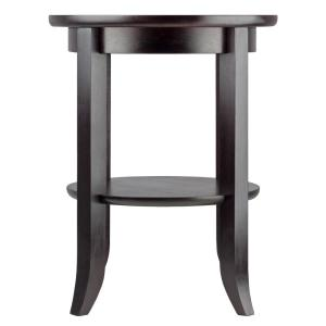 Winsome Wood Genoa Espresso Glass Top End Table 92218 The Home Depot