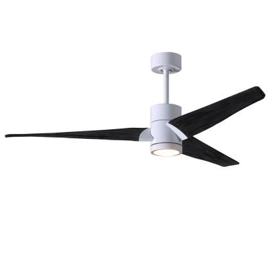 Super Janet 52 in. Integrated LED Gloss White Ceiling Fan with Light Kit