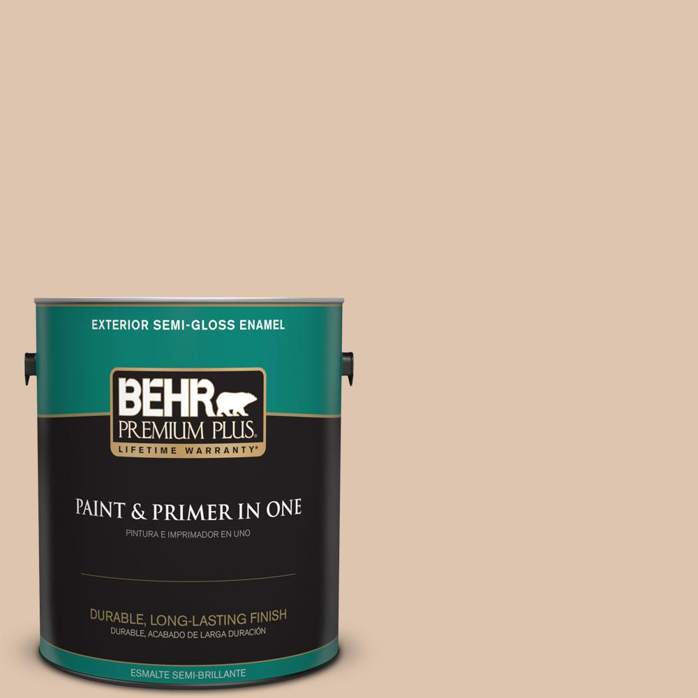 1-gal. #N250-2 Brazilian Tan Semi-Gloss Enamel Exterior Paint