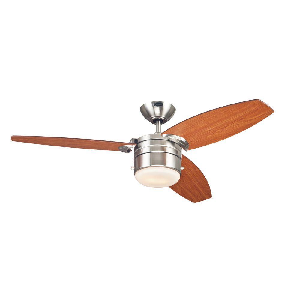 Lavada 48 in. Brushed Nickel Indoor Ceiling Fan