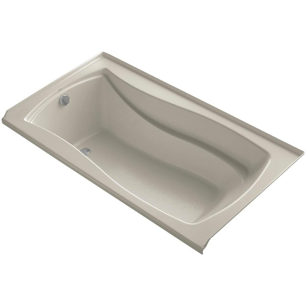 KOHLER Mariposa 55 Ft Left Drain Soaking Tub In Sandbar