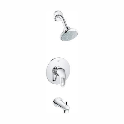 Eurostyle 1-Handle Tub and Shower Faucet Trim Kit in StarLight Chrome (Valve Sold Separately)