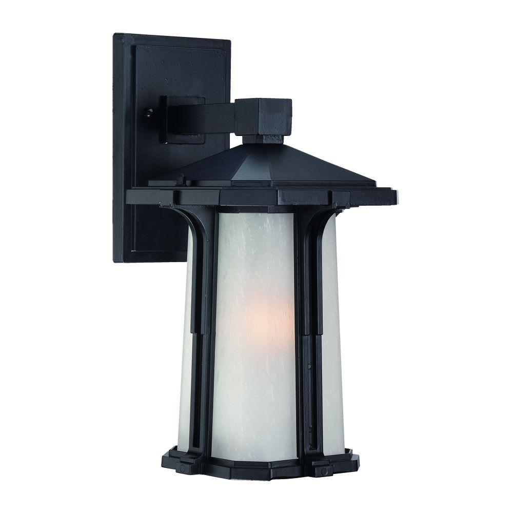 Acclaim Lighting Illuma Collection Wall-Mount 1-Light Outdoor Matte Black-Light Fixture