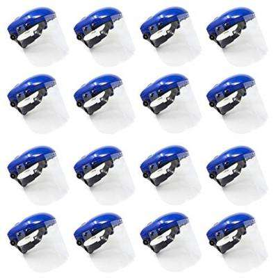 Safety Headgear with Clear Polycarbonate Face Shield (16-Pack)
