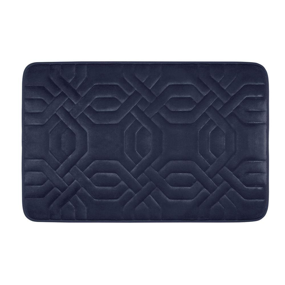 Chain Ring Indigo 17 in. x 24 in. Memory Foam Bath