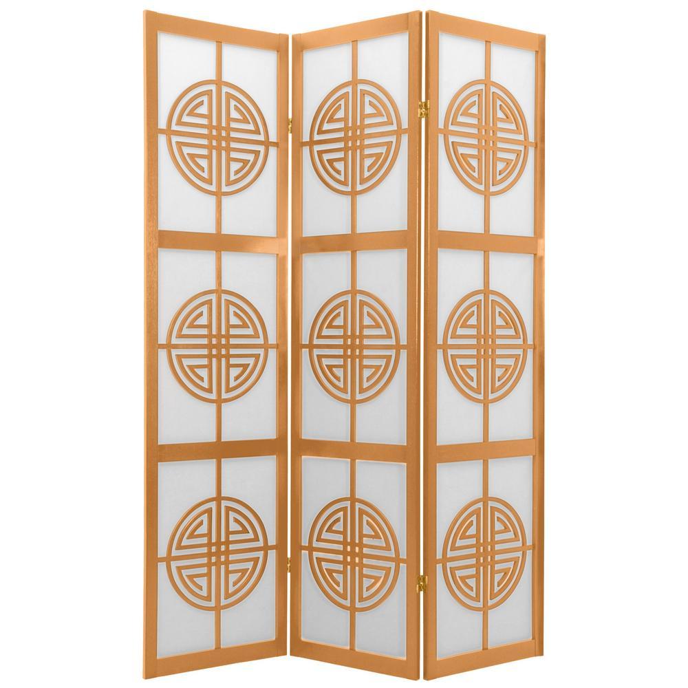 Oriental Furniture 6 ft. Natural 3-Panel Room Divider CLL-3P-NAT