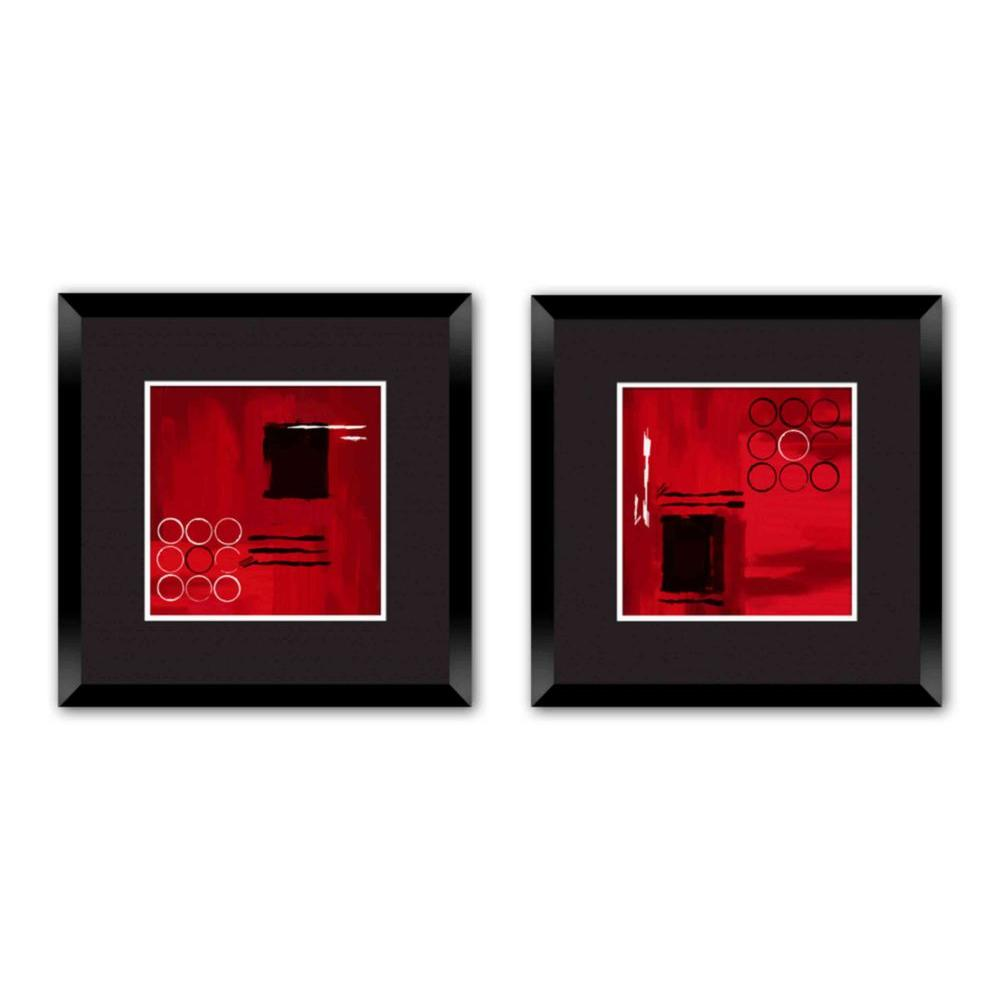 "18 in. x 18 in. ""Basic Red"" Double-Matted Framed Wall Art"