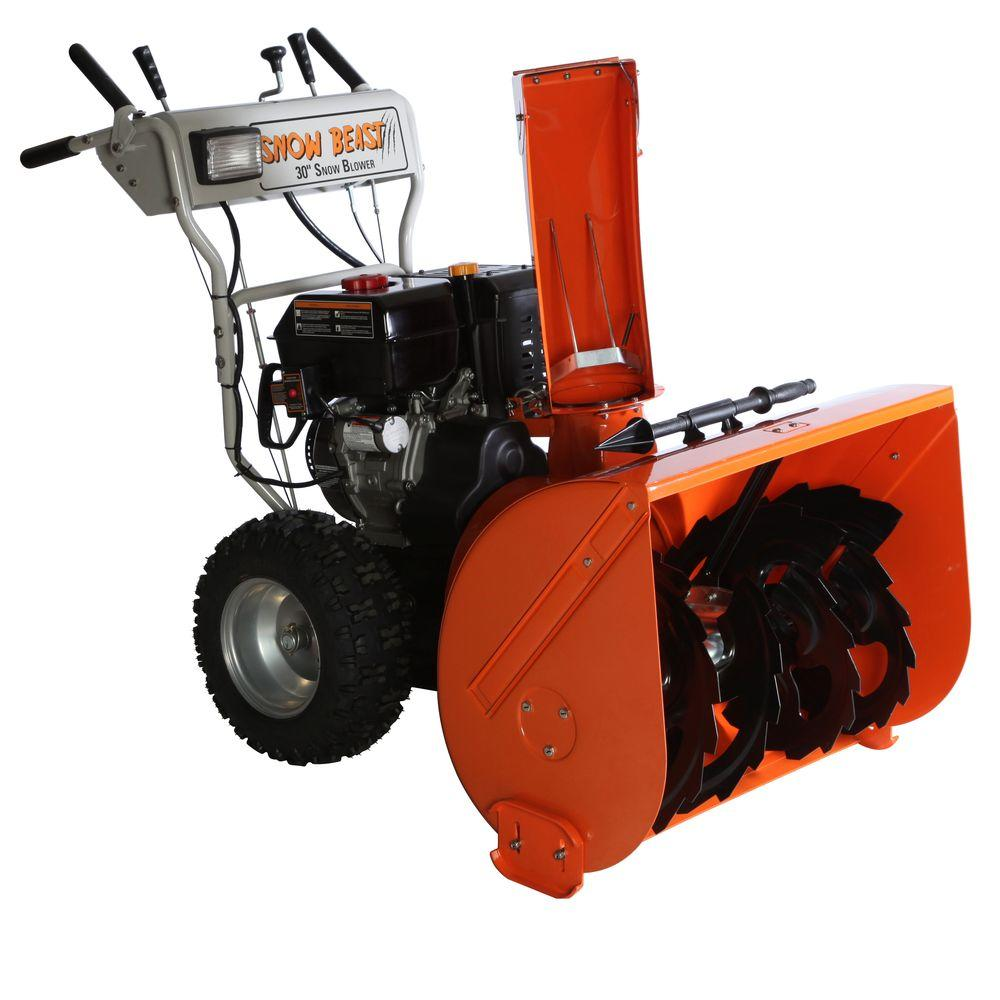 Beast 30 in. Commercial 302cc Two-Stage Electric Start Gas Snow Blower