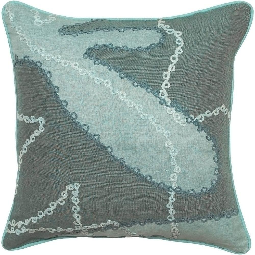 Artistic Weavers Stitchwork 18 in. x 18 in. Decorative Down Pillow-DISCONTINUED