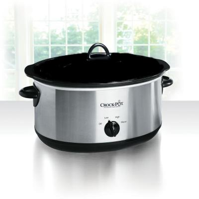 5e86c4771067 8 Qt. Manual Slow Cooker in Stainless Steel