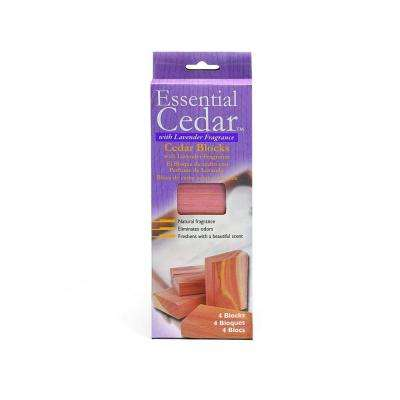 Aromatic Cedar and Lavender Blocks (4-Pack)